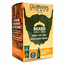 Набор для бороды Clubman Beard 3-in-1 Trio